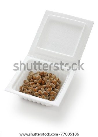a container of natto(fermented soy beans) , japanese food