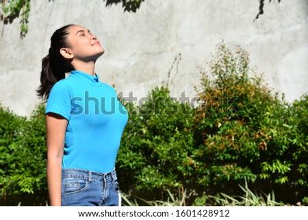 A Contemplative Pretty Minority Female