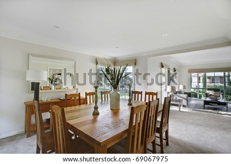 A Contemporary Dining And Living Room #69067975