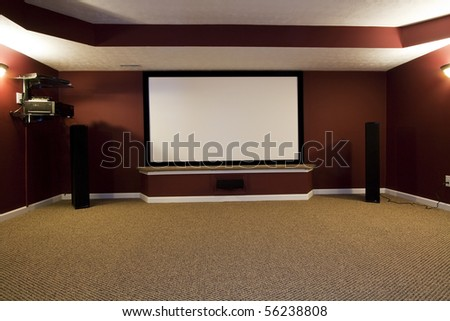 A Contemporary Home Theater Setup