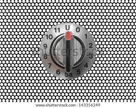 A control switch isolated against a white background Photo stock ©