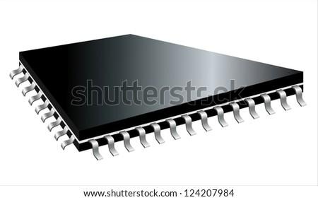 A controller/CPU type square microchip.