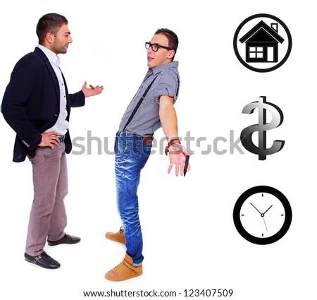 A conversation between an employer and employee