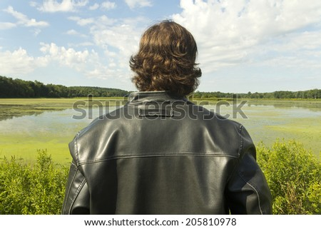 A cool guy takes in the gorgeous view