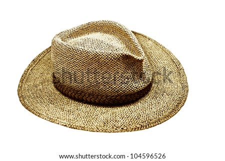 A cool mesh hat for summer sun protection, on white background.
