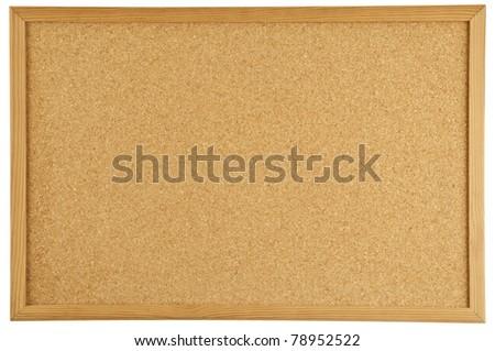 A cork message bulletin board
