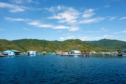 a corner of Binh Hung island, there are seas, islands and blue skies