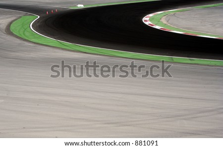 a corner on racing cicuit