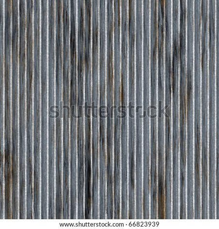 A corrugated metal texture with rust that tiles seamlessly as a pattern. Makes a great background or backdrop when tiled.