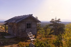 A cottage on top of the Levi mountain, Finland