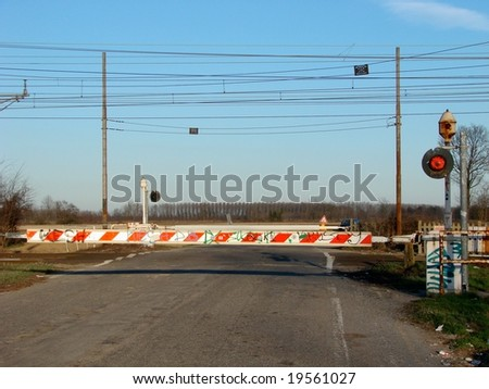 A country level crossing near Pavia, Italy