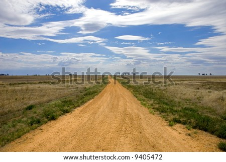 A country road in a remote part of North-Western Victoria, Australia
