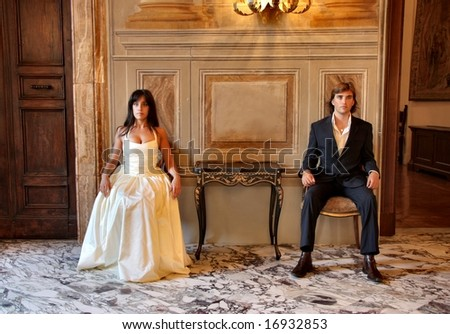 a couple in a luxury room hotel