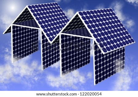 A couple of houses made from solar panels / Solar houses