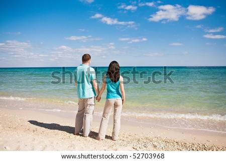 A couple on beach