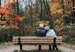 A couple spend their lifetime and falling leaves