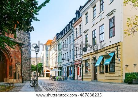 A cozy street in Berlin, Germany