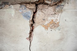 A crack in the wall. Texture, background