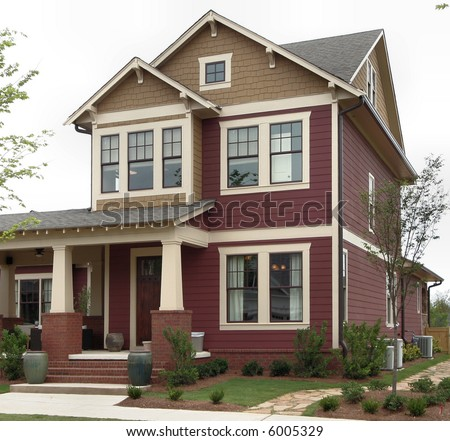 A craftsman-style home in the suburbs.