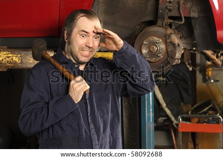 A crazy mechanic confused on what to do to fix the car.