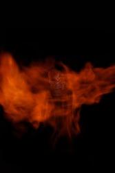 A creative burning skull wallpaper.