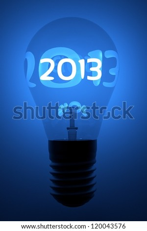 a creative 2013 concept with lightbulb