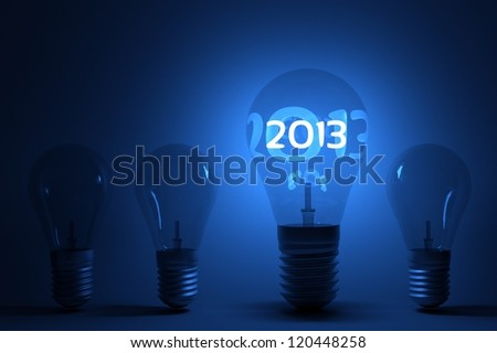 a creative 2013 concept with lightbulbs