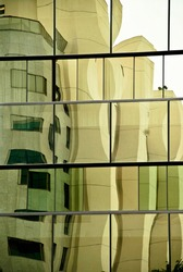 a creatively distorted building like cubism art