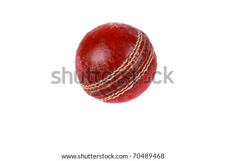 A cricket ball isolated on a white background. #70489468