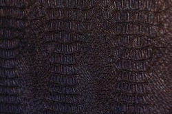 A Crocodile Texture Leather, Dark Brown Background
