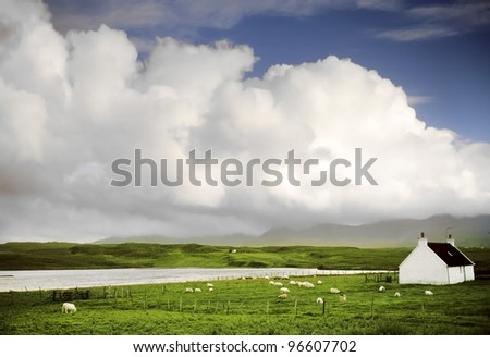 a croft on the isle of skye in Scotland, Great Britain UK