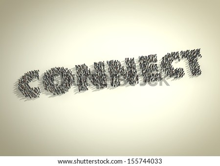 A crowd of people form the word 'Connect'. Symbolic of a connection either via technology, social media / networks, business networks or relationships.