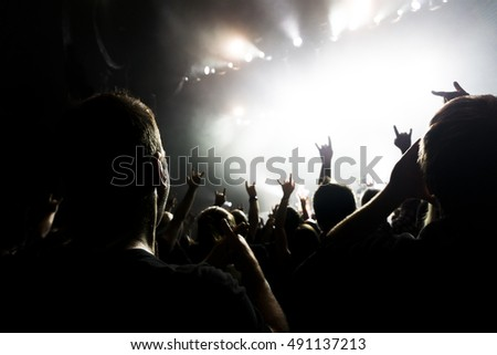 a crowd shadow of people at during a concert #491137213