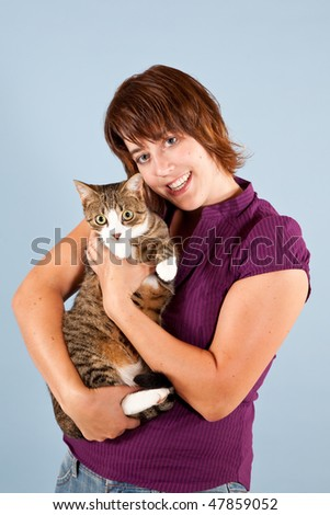 A Cudly Cat with a nice Lady