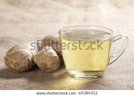 A cup of a healthy ginger tea