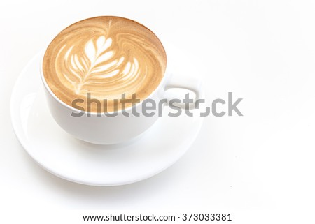 A cup of cafe latte on white background isolated #373033381