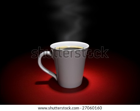 A cup of hot and tasty coffee in a relaxing mood.