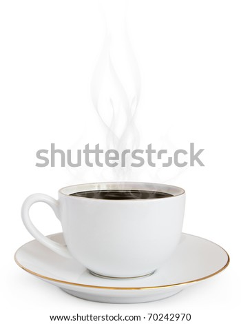 A cup of hot coffee and a smoke