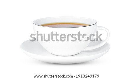 A cup of tea with tea isolated on white background. Foto stock ©