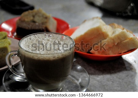 A cupp of Sanger coffee, Aceh's Special Coffee Stok fotoğraf ©