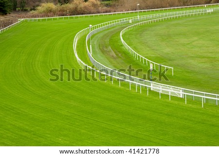 A curve of a horse racing circuit.
