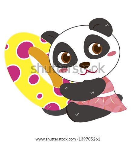 a cute panda and his life preserver