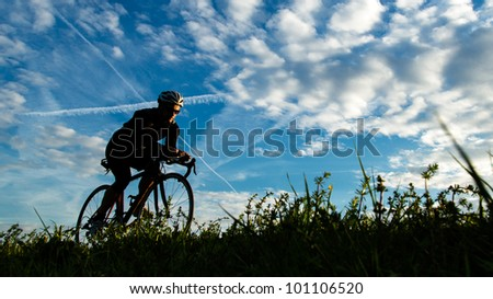 a cycling triathlete