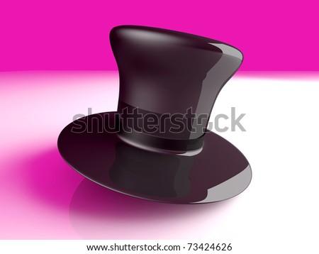 A cylinder Hat. 3D rendered Illustration. A classic Cylinder Hat. 3D rendered Illustration.