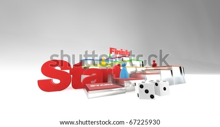 A 3D boardgame playing out