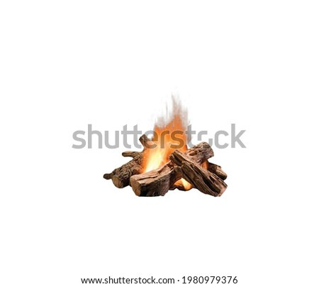 A 3d illustration image of bonfire isolated on white background. Сток-фото ©