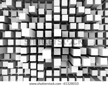 a 3d illustration of a abstract square background