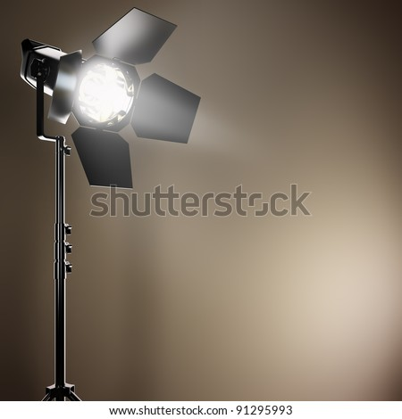 A 3D illustration of a studio flash.