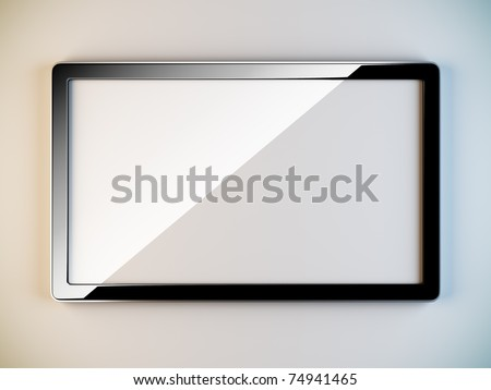 A 3D illustration of empty black plastic frame.