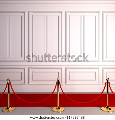 A 3d illustration of red carpet abstract awards.